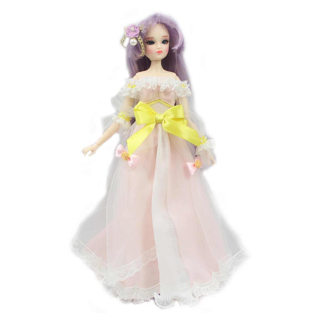 Мм девушка 30 см кукла с гибкими суставами имя Элли фиолетовые волосы в том числе одежда и shoesstand, 1/6 BJD куклы