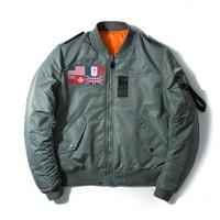 Autumn Classic MA1 USA Flag of England badge embroidery flying jacket bomber flight jacket Coat for Men/Women Outerwear