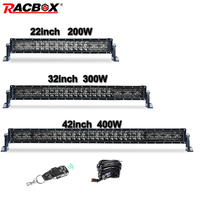 Ledbar Offroad 5D 22'' 32'' 42'' 200W 300W 400W LED Light Bar Curved Work Lamps Headlight For Auto Truck 4x4 4WD ATV SUV 12V 24V