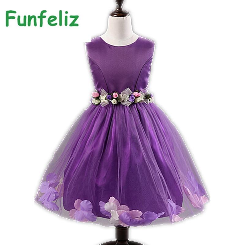 Vestido de niña de flores Fiesta de cumpleaños Vestidos de princesa - Ropa de ninos - foto 4