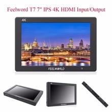 FEELWORLD T7 4 К HDMI Вход/Выход на Камера Мониторы Full HD 7 «IPS Экран Дисплей, алюминий металла Рамки видео Мониторы для Камера