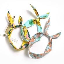 New Style Fruit Flower Women Hairband  Fashion Girl Sea Beach Cute Lemon Banana Pineapple Rabbit Bow Tie Hair Accessories