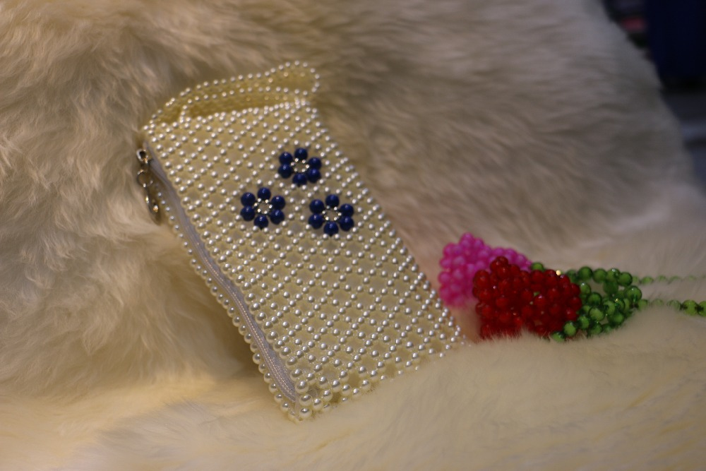 Crystal Rhinestone Flower Motif Wallets Beads Woman Custom Purse ...