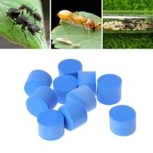 10pcs water block tube / plug for Ant Farm acrylic moisture with feeding area, Villa PET inserts advanced Mania farm ants