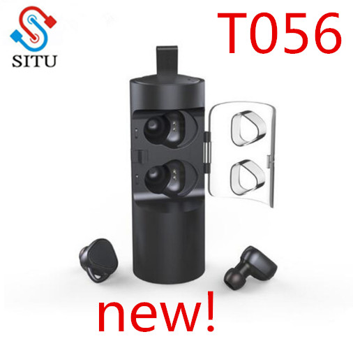SITU T056 TWS Wireless Earphones Sport Bluetooth V4.2 Noise Cancelling Headset With Charger box Mini Stereo Headset For Phone