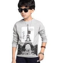 Children's Long-sleeved base shirt spring shirt 2017 New Children's printing 100% cotton sweater boys T-shirt child boy garments