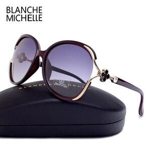 Image 3 - Oversized Polarized Sunglasses Women UV400 Gradient Lens Luxury Sun Glasses Vintage Ladies Sunglass Woman 2020 очки With Box