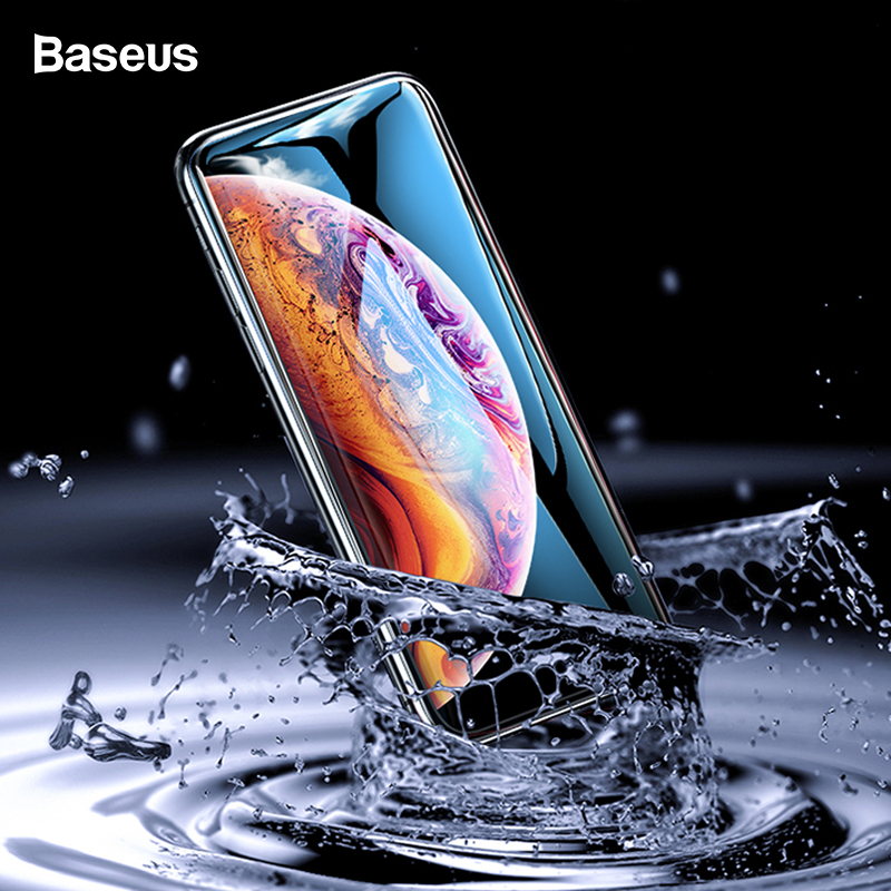 Baseus 0.2mm Screen Protector Tempered Glass For iPhone XS Max XR Full Cover Protective Glass Film For iPhoneXS Max iPhoneXr ixs