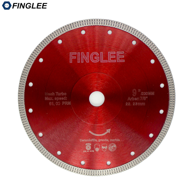 22.23/230 mm Wave Style Diamond Saw Blade for Porcelain tile ceramic Dry cutting aggressive disc marble granite Stone saw blade