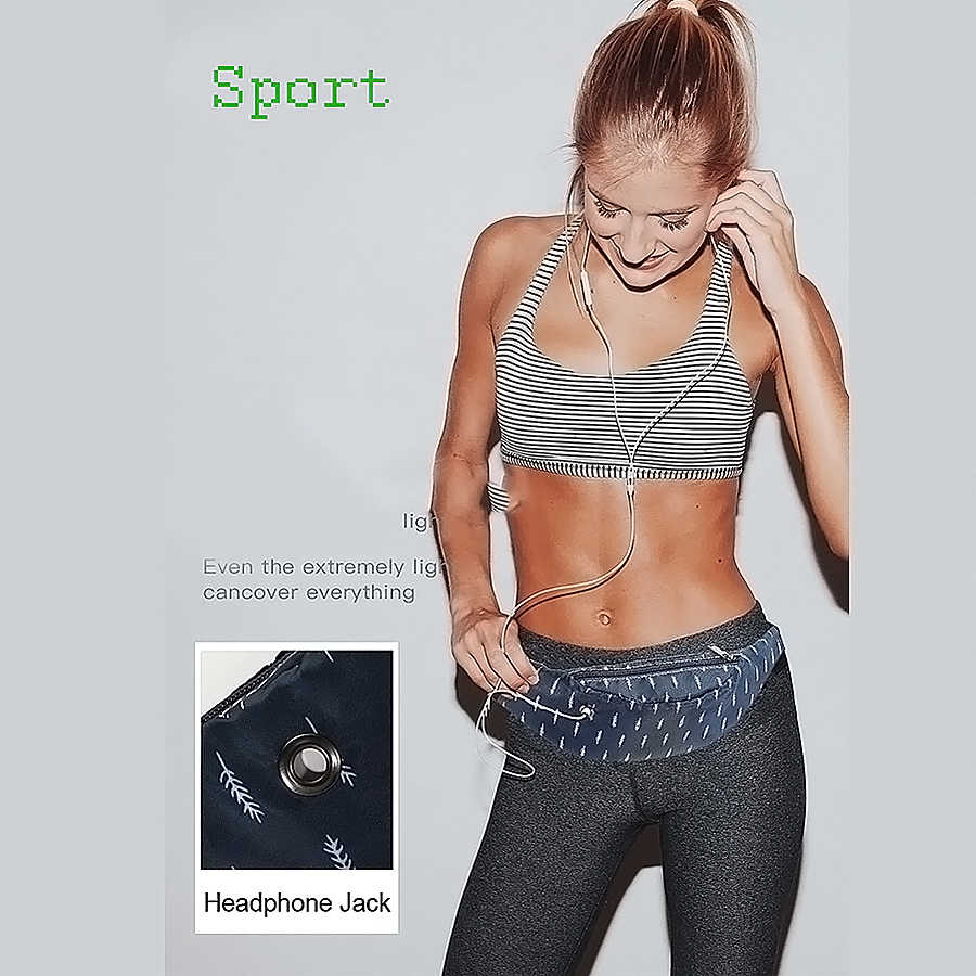 Bolso de la correa de las mujeres de lona impermeable de alta calidad bolsas de la correa del riñonera de las muchachas Sling bolsas de la nueva moda de la bolsa del teléfono móvil de los deportes bolsa