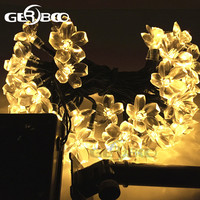 Solar LED Holiday Garlands String Lights 100Led Cherry Pendant Wedding Bouquet Party Lights Garden Decor Lamps Luces Solare