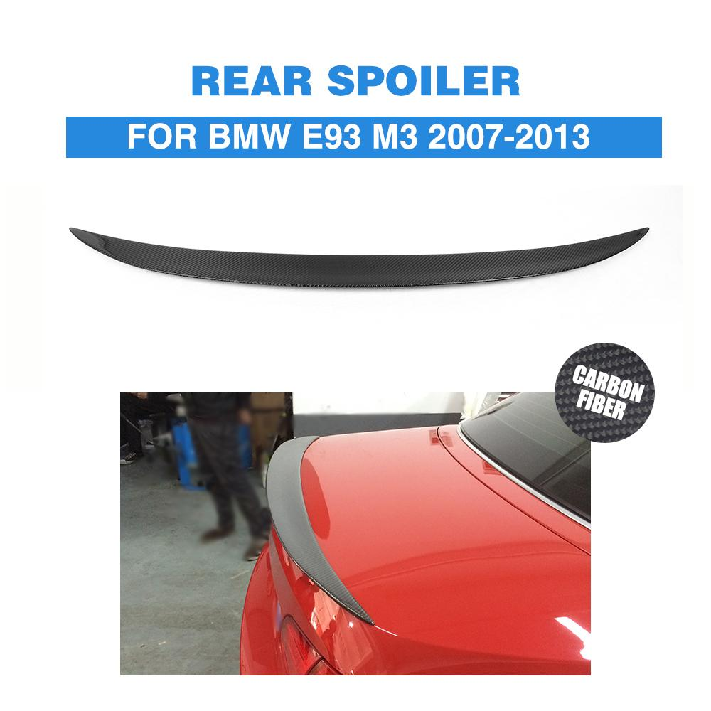 Carbon Fiber Rear Trunk Boot Lip Spoiler Wing for BMW E93 M3 2007-2013 Car Styling 2007 bmw x5 spoiler