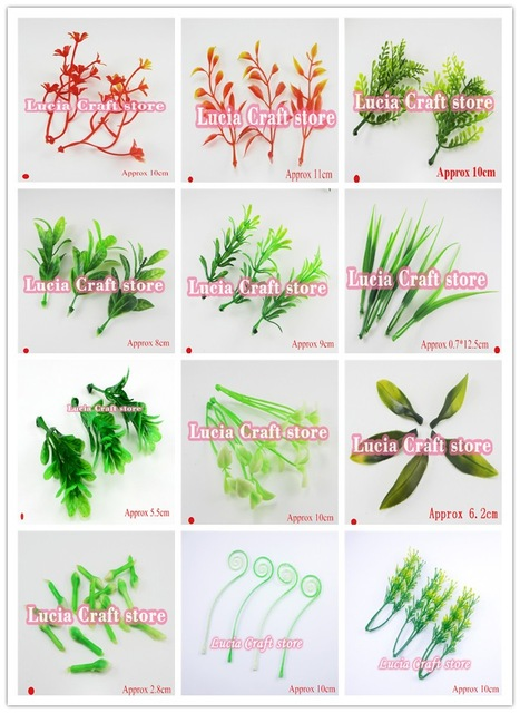 Lucia crafts 24pcs/lot Multi options Artificial Pastic Flower Stamens leaves garden Home Party Decoration 027034011