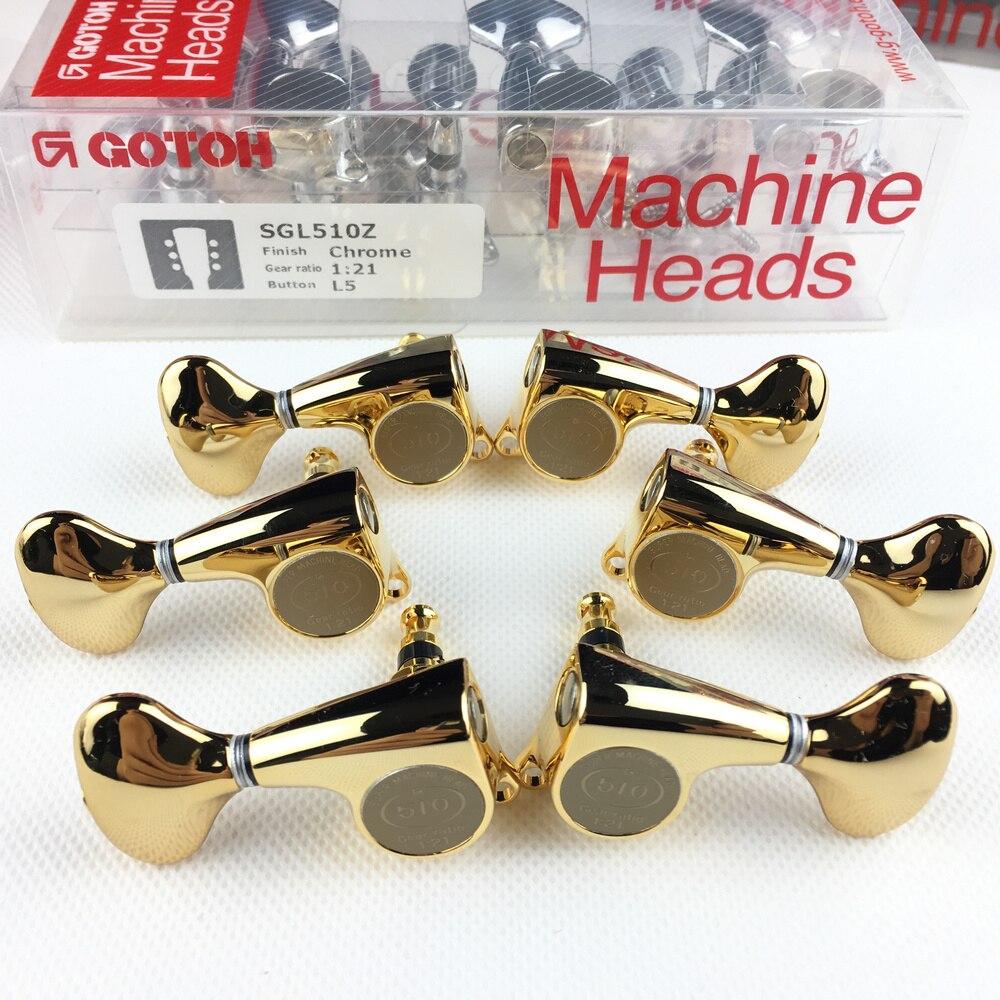 Genuine Original L3+R3 GOTOH SGL510Z L5 Electric Guitar Machine Heads Tuners ( Gold ) MADE IN JAPAN
