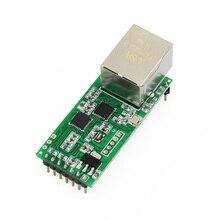 Módulo convertidor Ethernet Q18042 USR TCP232 T2, serie pequeña, UART, TTL a Ethernet, TCPIP, compatible con DHCP y DNS