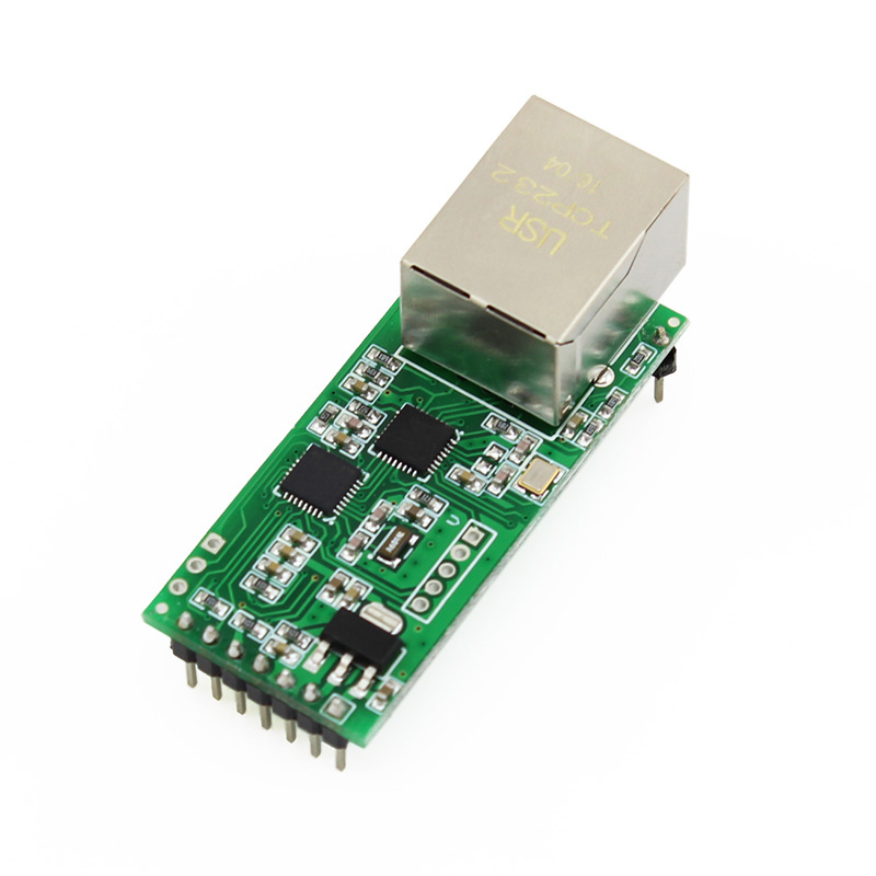 Q18042 USR-TCP232-T2 Tiny Serial Ethernet Converter Module Serial UART TTL to Ethernet TCPIP Module Support DHCP and DNS ttl turn rs485 module 485 to serial uart level mutual conversion hardware automatic flow control