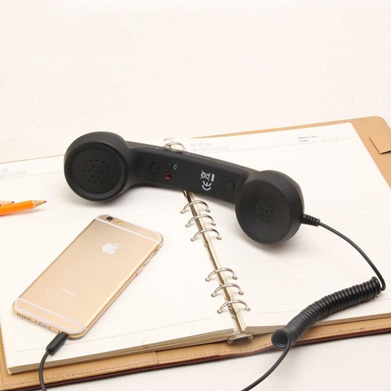 Retro teléfono a prueba de radiación receptores clásico auricular MIC micrófono auricular del teléfono móvil 3.5mm auriculares para teléfono móvil PC