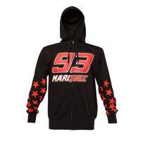 Marc Marquez 93 Zip Hoodie MM93 Moto GP Motorcycle Sports Star Models Sweatshirt Crew Fleece