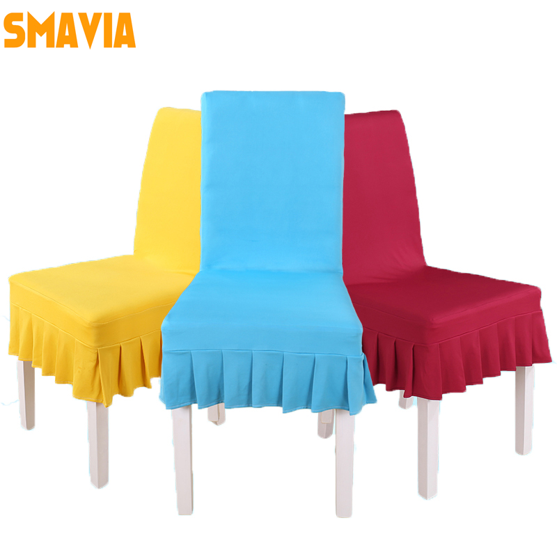 SMAVIA Spandex stretch Restaurant Chair cover 100% Polyester Fabric Decor Home for 4 Seasons Chair Cover installation washable ...