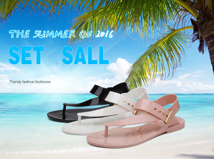 Free Shipping Women Sandals 2016 Summer Bohemia Flat Women Shoes New Fashion Beach Sandals Solid Casual Shoes ST1009 (1)