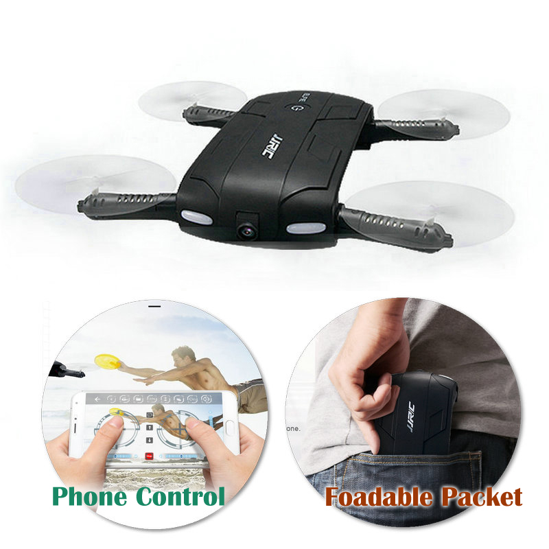 WiFi Camera Selfie Drone Original JJRC H37 ELFIE 6-Axis Gyro WIFI FPV Quadcopter Mini RC Drone Foldable Packet Helicopter