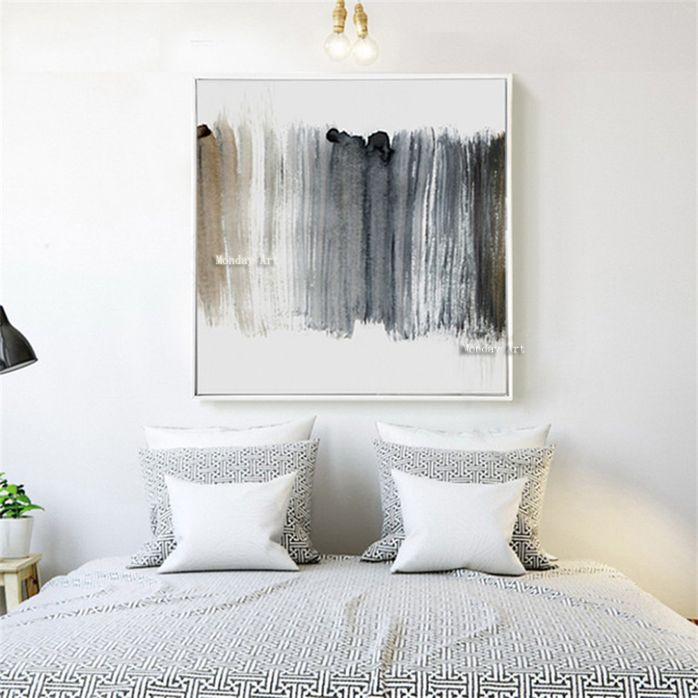 Abstract Oil Painting Hand painted oil paintings wall Art Canvas pictures For bedroom living room Home Decora wedding decoration in Painting Calligraphy from Home Garden