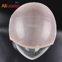 Alileader 5Pcs/lot  Wholesale Price Fress Shipping Mono Glueless Making Wig Cap Invisible Hair Net For Toupee Wigs Beige Color