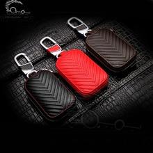 цена на Leather Car Key Case for Lexus Audi Mercedes Peugeot Toyota Vw Skoda Bmw Hyundai Chevrolet Car Protector Case Covers Car Key Bag