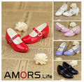 Cute Free match Leather Dance Shoes for BJD Doll 1/4 MSD,1/3 SD10,SD13  2 Colors Luts DOD AS DZ Doll Shoes SW3