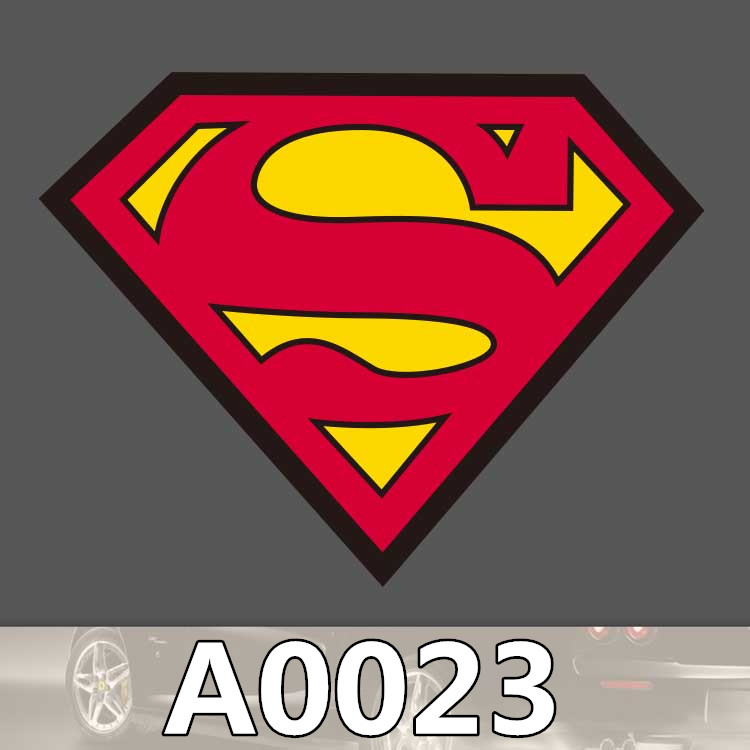 Bevle A0023 SUPERMAN Chest Mark LOGO Waterproof Sticker For Cars Laptop Luggage Skateboard Graffiti Notebook Stickers