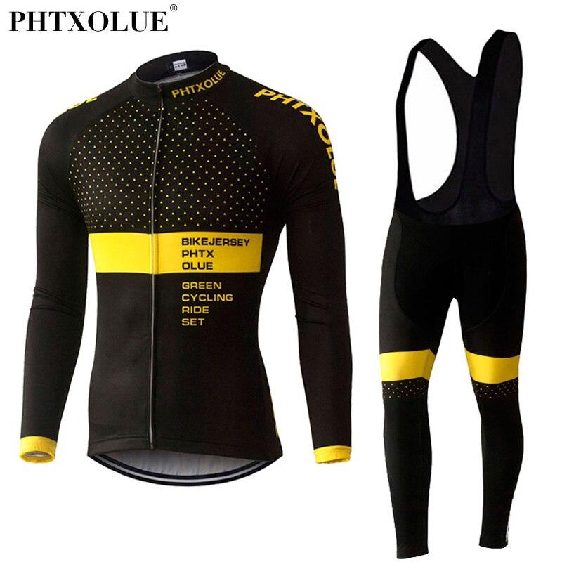 Phtxolue Winterthermovlies Radsportbekleidung Set Maillot Ropa Ciclismo Invierno MTB Fahrrad Trikots Bike Sport QY370