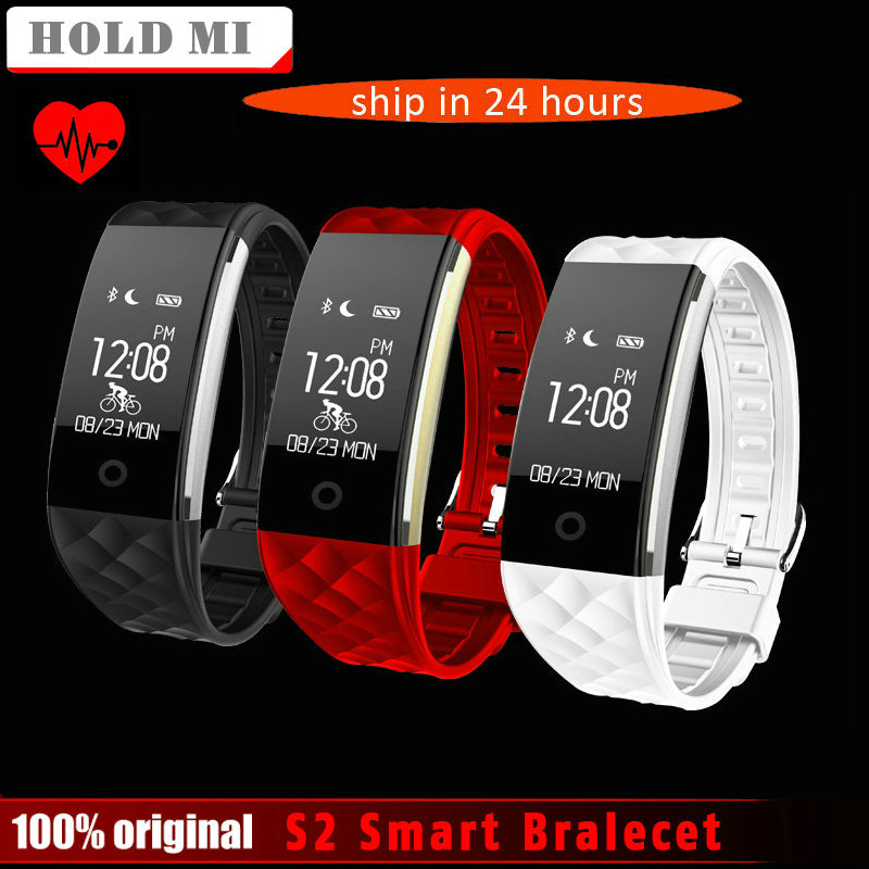 S2 Bluetooth Smart Band Bracelet Waterproof Touch Screen Wristband Heart Rate Monitor Smartband Bracelet For Android