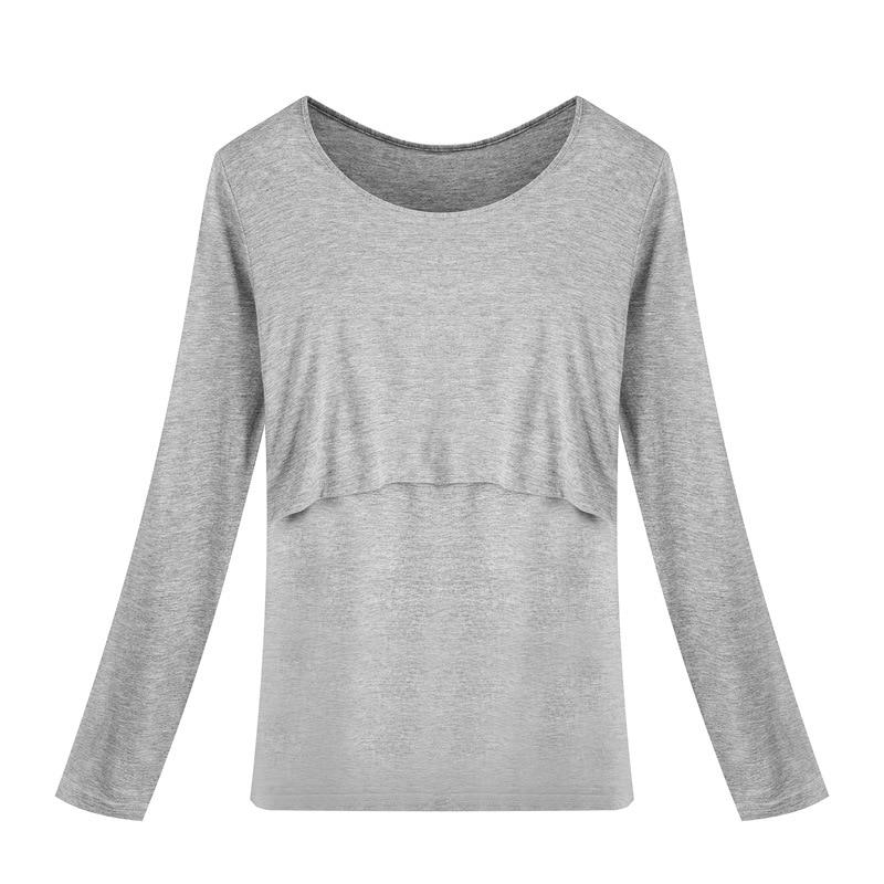 705c29ceb La Lactancia materna Tops Tees Ropa de Enfermería de Maternidad Las Mujeres  Embarazadas Lactancia Camiseta Maxi Wear Ropa Premama
