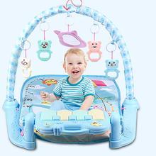 Детские подвесные Мультяшные животные погремушки Пианино музыкальный игровой коврик новорожденный ранний коврик для обучения игрушки для детей