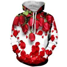 Новинка модные худи с цветочным принтом свитшот для мужчин и