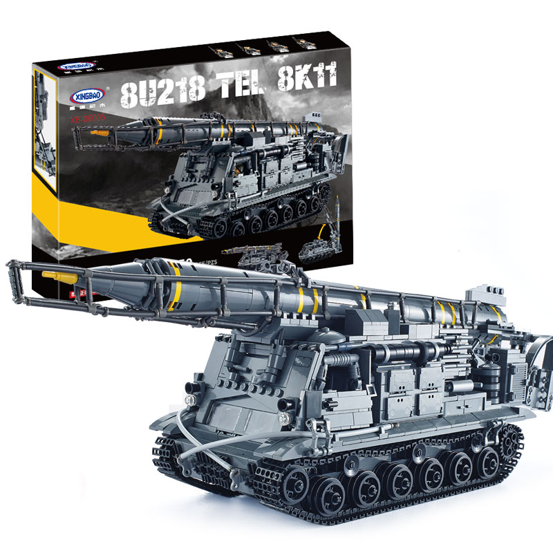 IN STOCK Xingbao 06005 1750Pcs Military Series The 8U218 TEL 8K11 Set Building Blocks Brick Children Educational Boy`s Toy Model children s participation in khat production educational implications