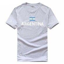 2018 Top New Arrival Summer Style argentina Flag print T-Shirt Men Women 100% Cotton O-Neck Fashion Short T Shirt Plus Size 2XL