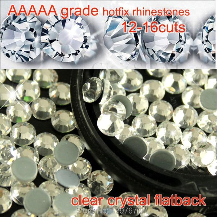 AAAAA grade 99% Similar Swa Crystal Clear Hotfix Flatback Rhinestones for Professional Buyers diy shoes dress accessaries
