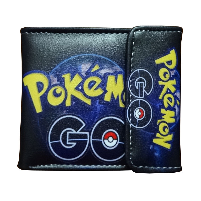Hot Pokemon Purse Pocket Monster Go Game Cartoon Wallet carteira Cute Pikachu Money Bag for Boy Girl Gift Leather Short Wallets