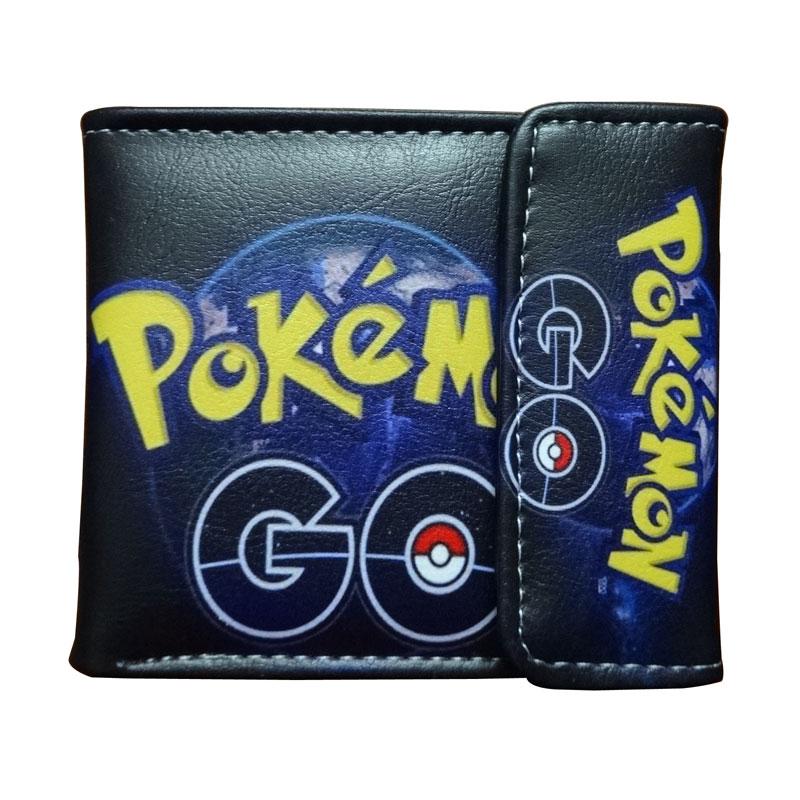 Hot Pokemon Purse Pocket Monster Go Game Cartoon Wallet carteira Cute Pikachu Money Bag for Boy Girl Gift Leather Short Wallets