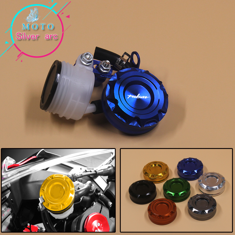 Motorcycle Brake Fluid Reservoir Clutch Tank Oil Fluid Cup For Bajaj Pulsar <font><b>200</b></font> <font><b>NS</b></font>/Bajaj Pulsar <font><b>200</b></font> RS/Bajaj Pulsar <font><b>200</b></font> AS image