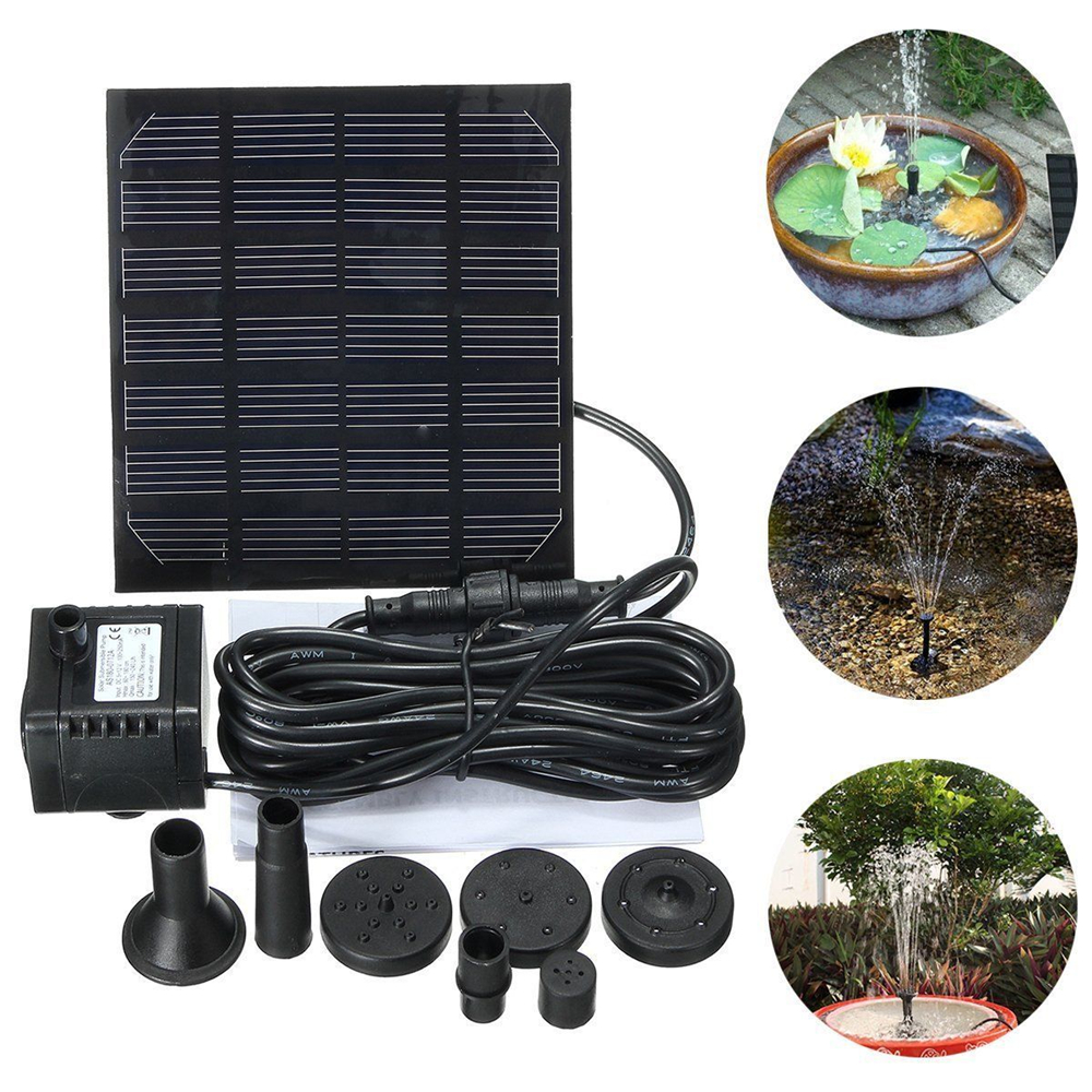 Fountain-Pump Waterfalls-Power Solar-Bird Garden