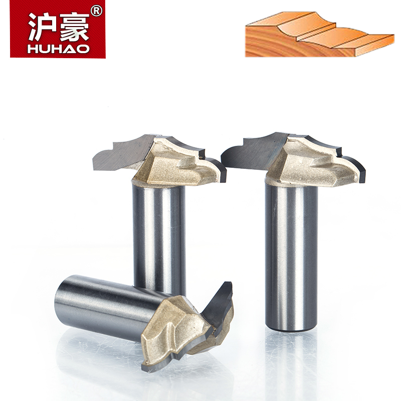 HUHAO 1pc 1/2 Shank Trimmer Router Bits For Wood Tungsten Carbide Woodworking Engraving Endmill  Precision Work Edge Cutter free shipping 10pcs 6x25mm one flute spiral cutter cnc router bits engraving tool bits cutting tools wood router bits