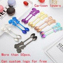 Cartoon  Spoon Creative Milk Coffee Tea Strring Spoon Ice Cream accessories Small Mini Dessert Spoon Flatware Logo customization