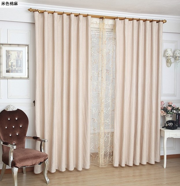 Linen curtain with hooks or punching ,ready curtains,Linen fabric ...