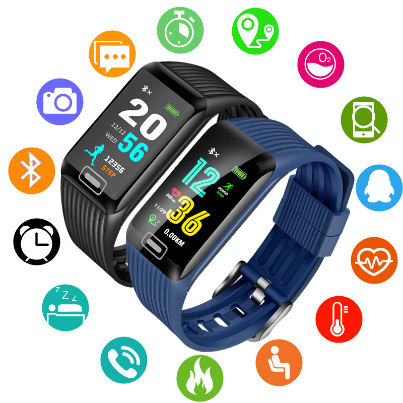 BANGWEI Men Smart Watch Men Women Waterproof Sport Pedometer Clock LED Large screen Sport watch Touch Screen Support ios android