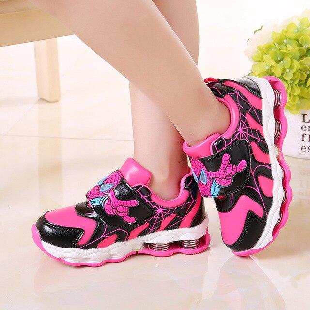 2017 kids shoes girls boys school top quality pink blue chaussures sapatos fille enfant princess zapatillas deportivas ninos