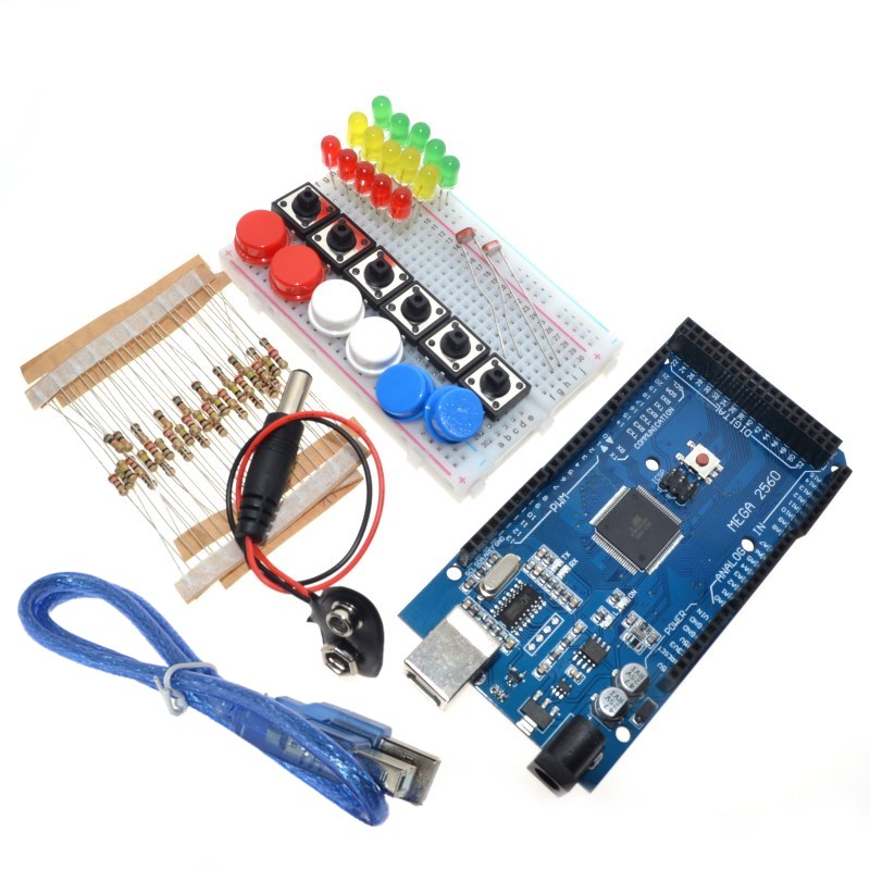 Smart Elektronik Integrierte Starter Kit Mega 2560 mini Breadboard LED jumper draht taste für arduino kit compatile