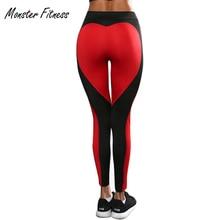 Monster Fitness leggings Women Workout gym Hero Print Yoga Pants stripe Heart Shape sports Leggings Jogging Stretch Trouser
