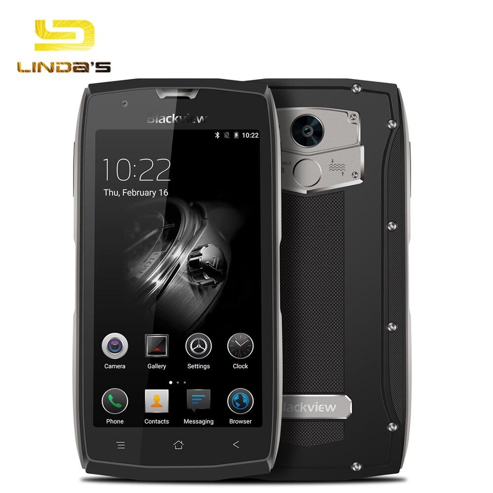 "Цена за Оригинал Blackview BV7000 Pro 4 Г 5 ""FHD 4 Г 64 Г Мобильный Телефон IP68 Водонепроницаемый MTK6750 Octa Core Отпечатков Пальцев GPS Глонасс Смартфон"